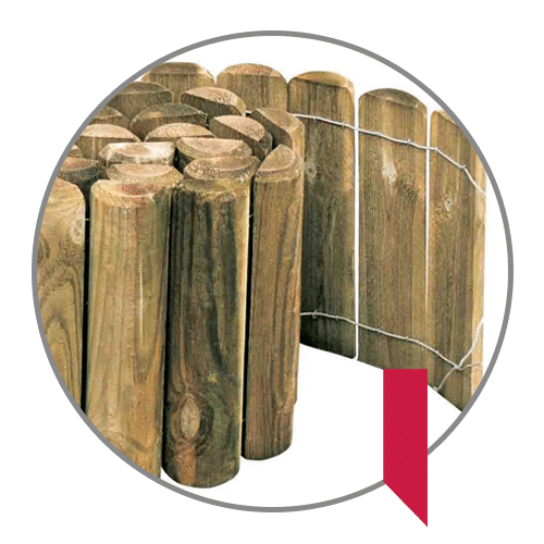 Bordure per aiuole in legno